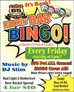 Rocking Bar Bingo