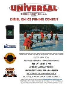 Diesel On Ice Fishing Contest @ East Access - Coon Lake, East Bethel