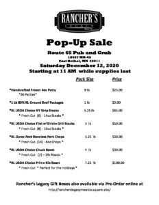 Pop Up Meat Sale at Route 65