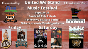 United We Stand Music Festival - feat. Hairball! @ Route 65 Pub & Grub